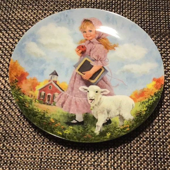 1985 Mary had a little lamb Reco collectors plate
